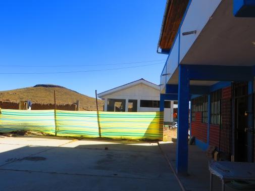 Le nouveau bâtiment qui abritera la cuisine de l'école de Collana